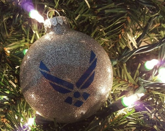 Air Force Ornament, Airman Ornament, Air Force Christmas Custom Personalized Christmas Ornament Air Force Mom Air Force Wife Family
