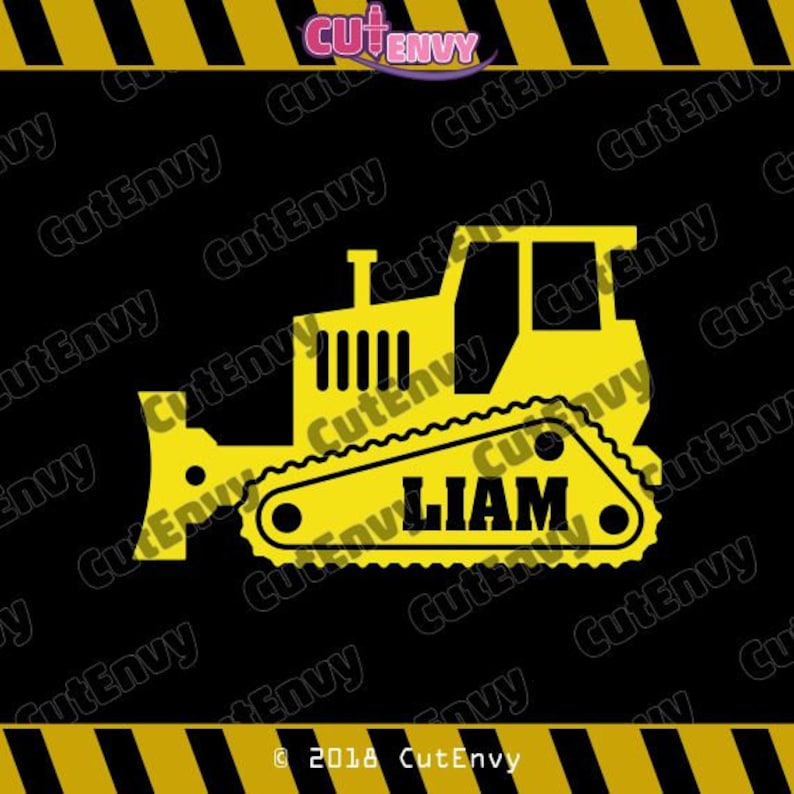 Bulldozer SVG Cut File  EPS DXF Vector Clip Art for Cutting image 0
