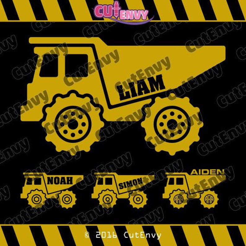 Dump Truck SVG Cut Files  EPS DXF Vector Clip Art for Cutting image 0