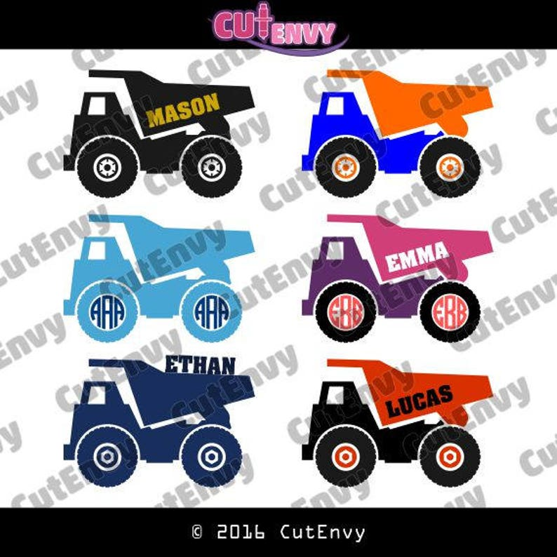 Dump Truck SVG Cut Files  EPS DXF Vector Clip Art for Vinyl image 0