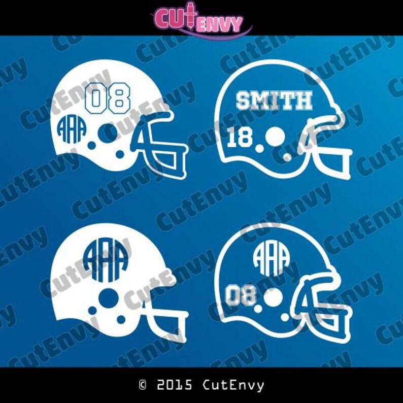 SVG Football Helmet Sport Cut Files  EPS DXF Cut Files for image 0