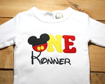 Mickey Birthday Shirt Mouse First 1st Second Disney Minnie World