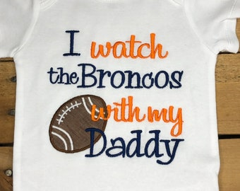 Born a Denver Broncos fan NFL tshirt one piece toddler Fathers Day Present