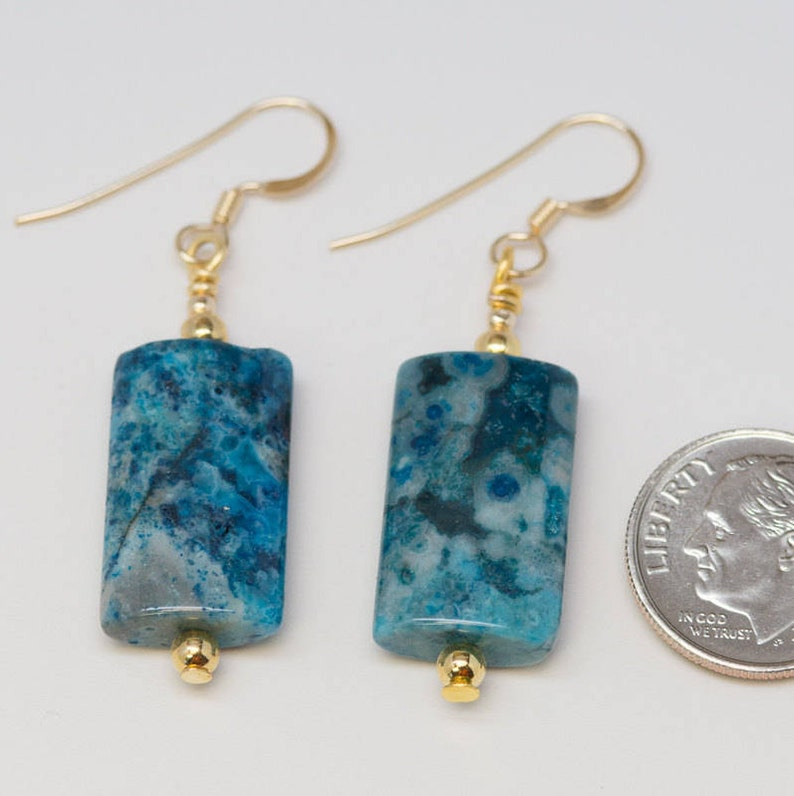 6b0a4f6112eaf Blue Crazy Lace Agate - 14k Gold Filled or Sterling Silver Wires