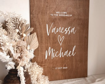 Brown Winter Christmas Welcome Engagement Party Personalised Wedding Sign