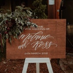 WELCOME To Our Wedding Sign |  Wooden Wedding Signage| Wedding Engagement Rustic Decor | Acrylic Wedding Sign