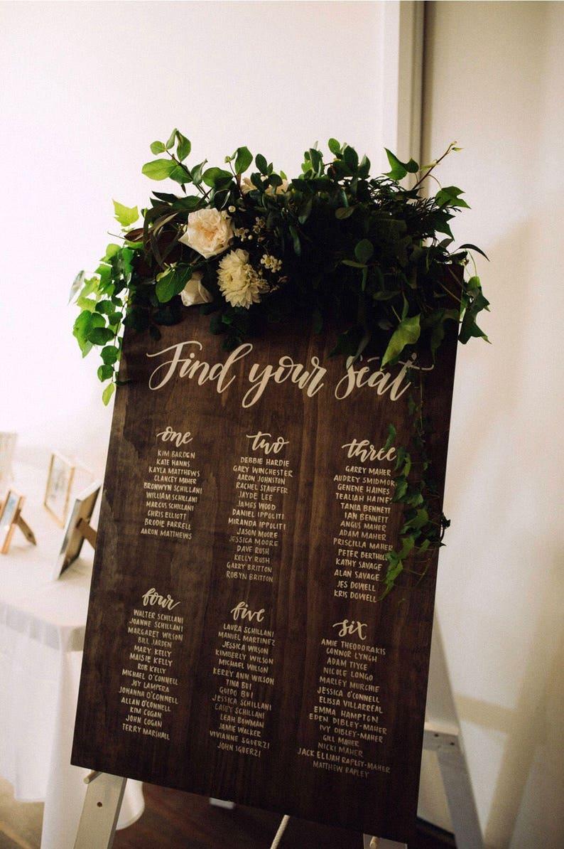 Wooden Find Your Seat Wood Sign Wedding Decor Freestanding Sign Wedding Sign#UKI