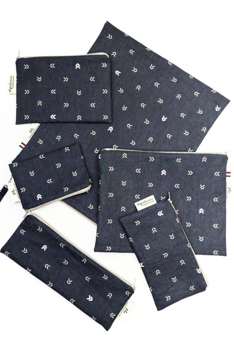 00dcb845ec28 Linen Mini Arrow Reusable Snack Bags Zippered Pouch | Etsy