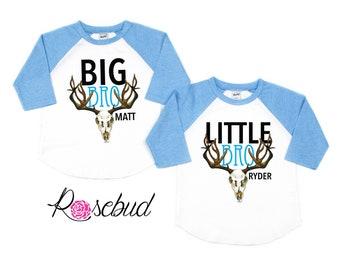 64912a5e6 Matching Sibling Skull Shirt Set, Big Brother Shirt, Big Sister Shirt,  Sibling Shirt Set, Boho Sibling Shirts, Big Brother Little Sister