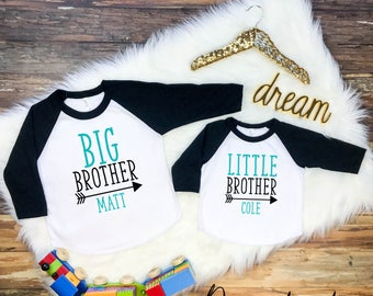 Big Brother Little Brother Shirt Set, Sibling Shirt Set, Sibling Shirts, Sibling Shirts Set of 2, Sibling Shirts Set of 3