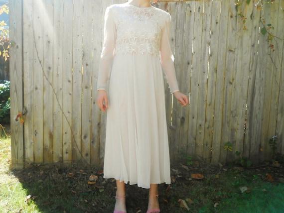 Vintage Rose Chiffon Bridesmaid Dress