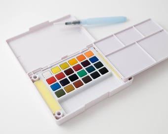 Sakura Koi watercolors, pocket field sketch set, 24 pans
