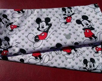 Set of Baby Burp Clothes Extra Soft and Large Choice of Mickey and Minnie Mouse Prints Backed with Red Minky (Set of 2)