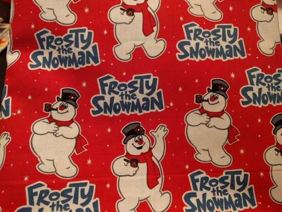 Christmas Holiday Drawstring Cinch Gift Bags Cloth Reusable Frosty the Snowman - Many SIzes to Choose From!!