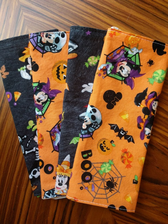 Mickey Mouse Halloween Napkins Sold Individually Choose Your Amount - Reversible, Washable, Reusable Both Sides Mickey!!!