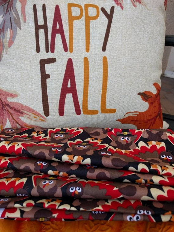 Thanksgiving Fall Fun Turkeys Cloth Reusable Napkin Set / Perfect for the Holidays  - Set of 4