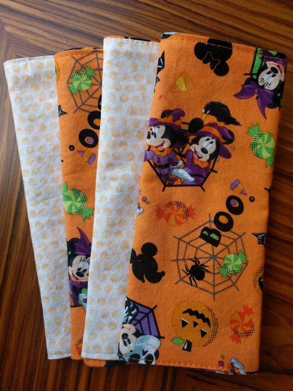Mickey Mouse Halloween Napkins Sold Individually Choose Your Amount - Reversible, Washable, Reusable
