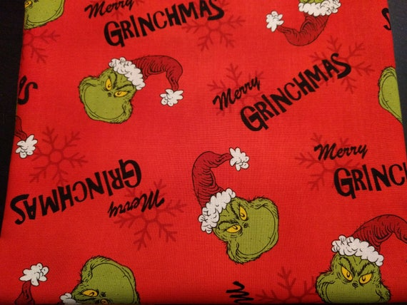 "Holiday Christmas Drawstring Cinch Gift Bags ""Merry Grinchmas"" Grinch Christmas - Different Sizes to Choose From!!"