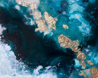 Aerial Ocean Coast  PRINT- Aerial Abstract Art Print- Abstract Art- Modern Art- Home Decor- Gallery Art