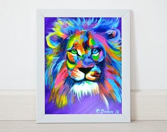 colorful lion art prints lion wall art lion art prints lion themed nursery art lion baby shower gift idea lion themed baby shower
