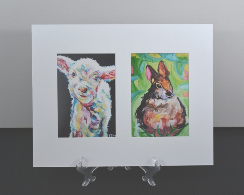 nursery art paintings matted wall art ready to frame nursery image 0