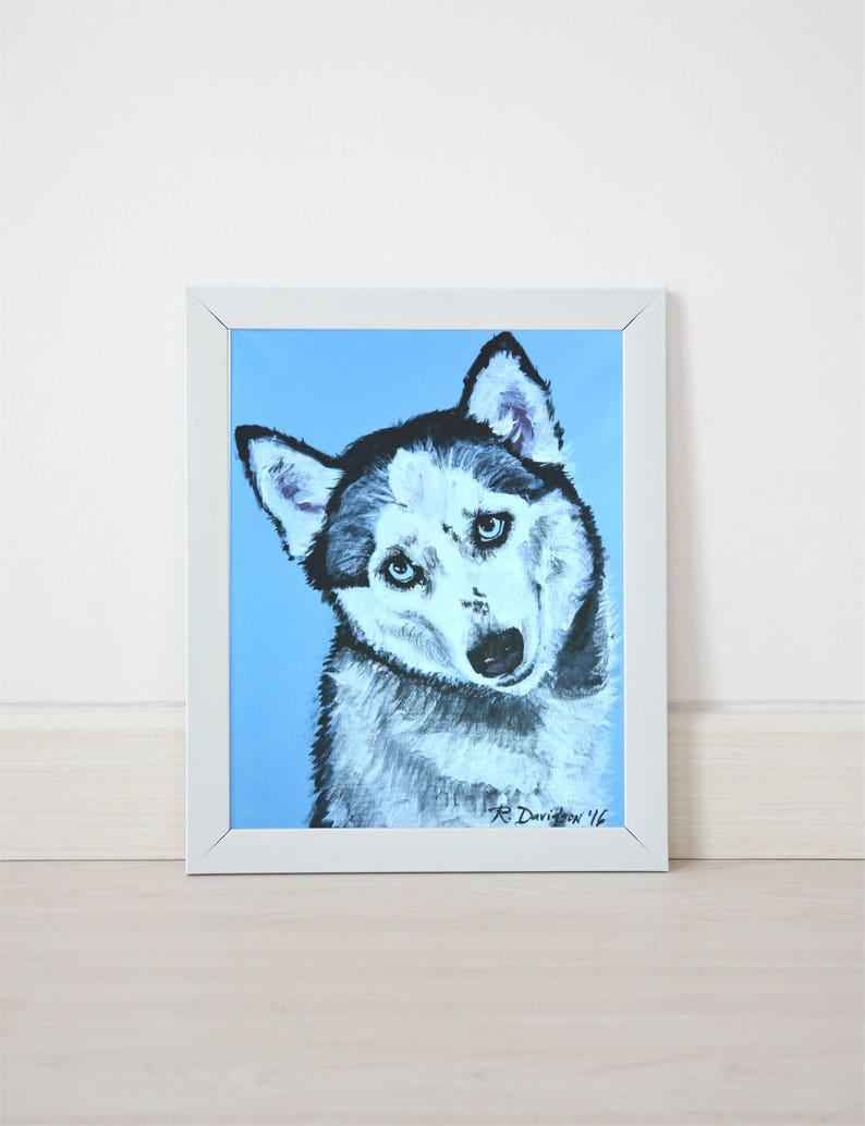 siberian husky art print for dog lovers dog art prints dog pet image 0