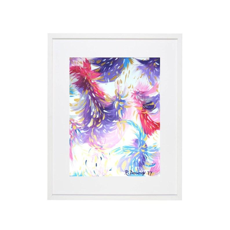 colorful abstract wall art print abstract nursery art purple image 0