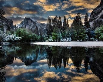 Snowy Spring Sunrise - Yosemite Greeting Card