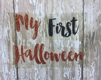 Baby's First Halloween/ Baby's First Halloween Iron on Decal/ Iron on Decal/ DIY Baby's First Halloween outfit/ My First Halloween Iron on