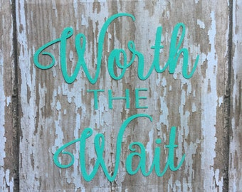 Worth the Wait iron on decal/ DIY New baby outfit/ DIY Hospital Coming home outfit for baby/ DIY baby bodysuit/