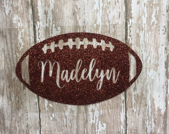 Personalized Football Iron on Decal/ DIY Football with Name Shirt/ Football Monogram Iron on Decal/ DIY Football Baby Outfit/ Football Name