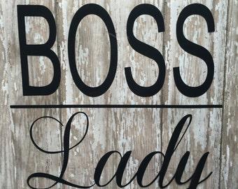 Boss Lady Iron on Decal/ Lady Boss Iron on Decal/ DIY Boss Lady Shirt/ Boss Lady Glitter or Non Glitter Decal/ Boss Man/ Boss Jr/ Mini Boss/