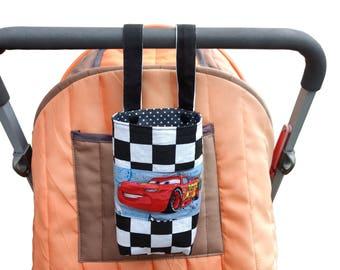 Baby Bottle holder - Water Bottle Holder for bike,cot & pram/stroller - Disney Pixar Cars theme
