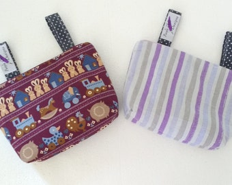 ON SALE:Pram caddy / pram organiser / mini wet bag / Makeup Bag