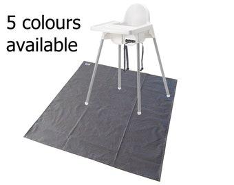 black splat mat / art & craft mat / tablecloth / high chair mat