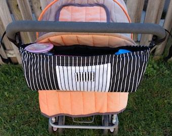 Pram Caddy/Stroller Bag/Bottle holder/Nappy Storage/Stroller Organiser/Diaper Storage/Tote bag /shoulder bag/double pram organiser