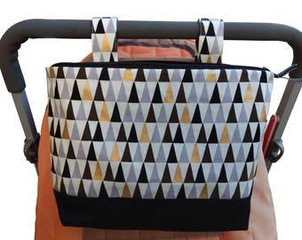Pram caddy / zipped pram organiser / mini wet bag / Makeup Bag