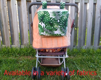 Pram caddy with zipper - pram organiser - mini wet bag - stroller organiser - stroller caddy - diaper bag - Palm