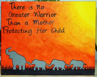 Made-To-Order - Elephant Silhouette at Sunset with Quote