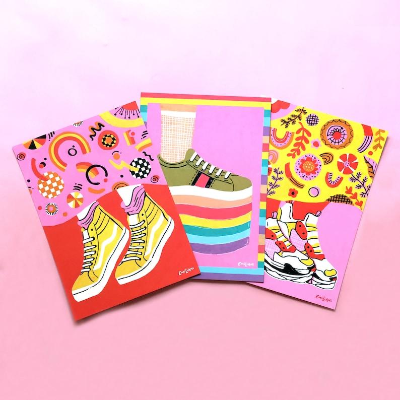 19dfc41ec73c DEAL All 3 Shoe Medium Postcard Prints 5x7