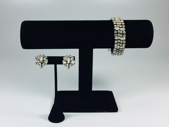 Kramer crystal rhinestone bracelet and earring set