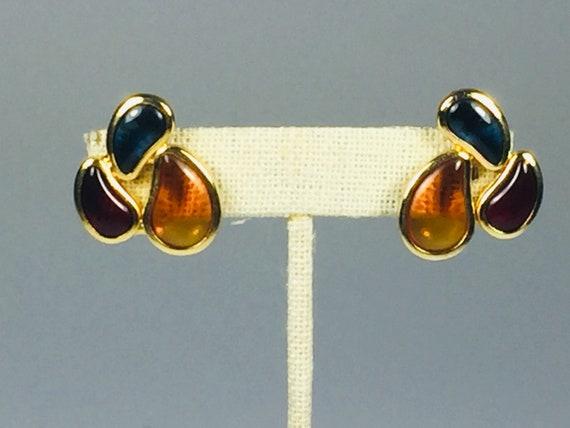 Les Bernard Gripoix earrings, designer clip earrin