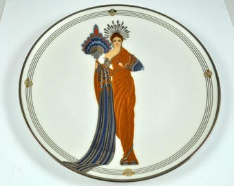 Franklin Mint plates, House of Erte plates, limited edition plate, Athena