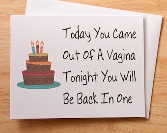 Birthday Card Vagina Naughty Dirty For Boyfriend Gift Sex Husband