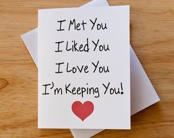 Love Card Boyfriend Gift For Him Valentine Romantic Heart Anniversary Birthday Wedding