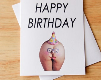 Boyfriend Gift Funny Birthday Card For Him Sexy Adult Humor Butt Erotic