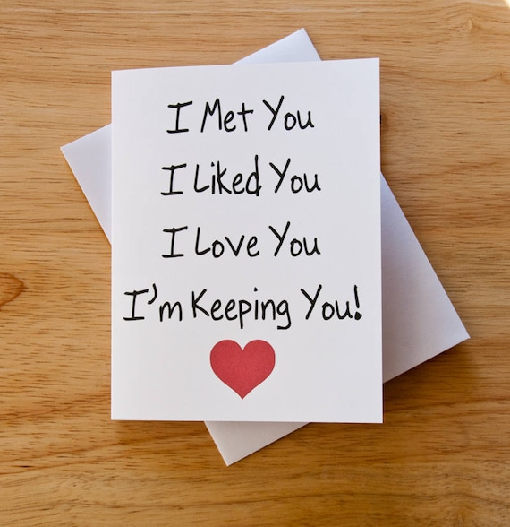 I Love You Card Boyfriend Gift Card For Him Valentine Card Etsy