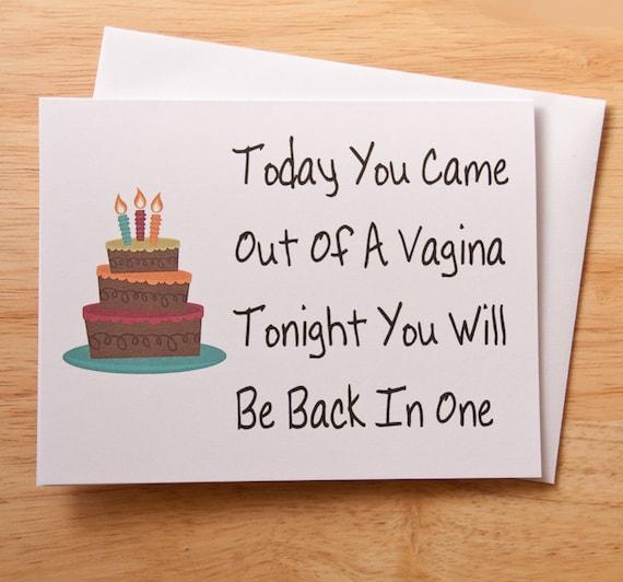 Birthday Card Vagina Card Naughty Card Dirty Card Card For Etsy