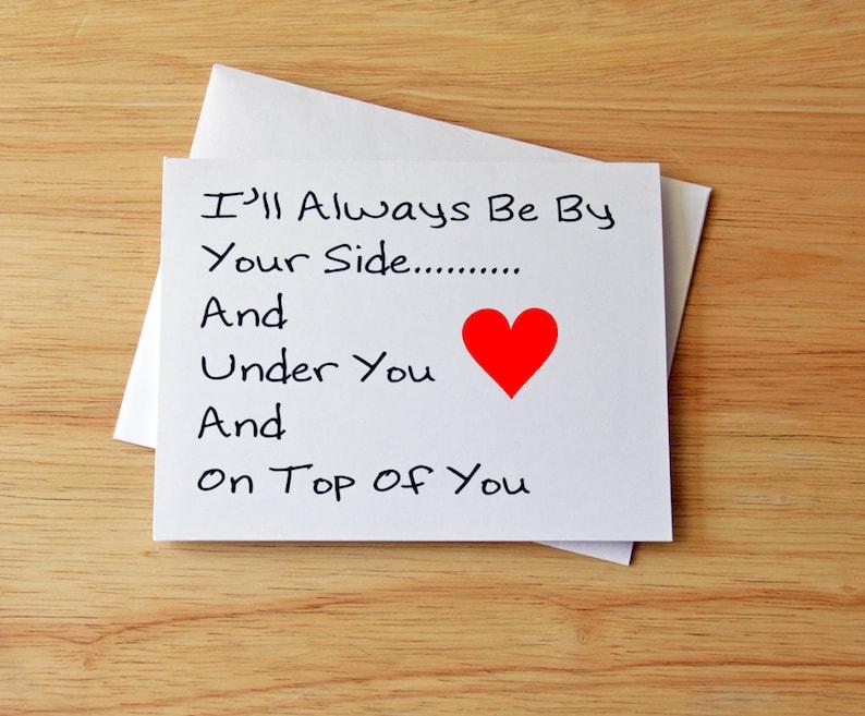 Valentine's Card Boyfriend Gift Card For Him Dirty image 0