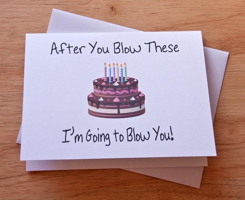 Boyfriend Birthday Card Gift Blowjob Husband